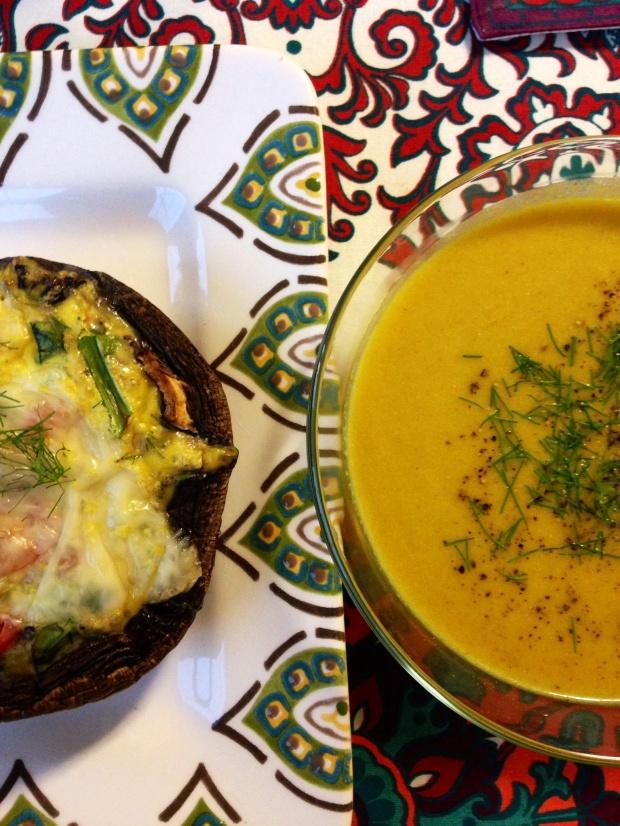 Porto-Quiche and Spiced Cauliflower