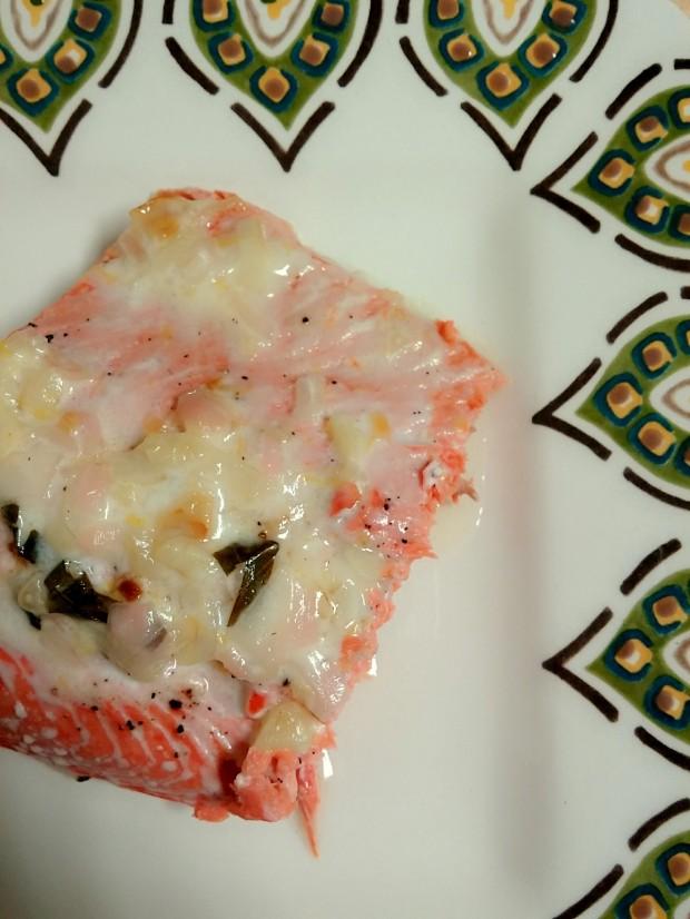Salmon with Coconut Cream Sauce