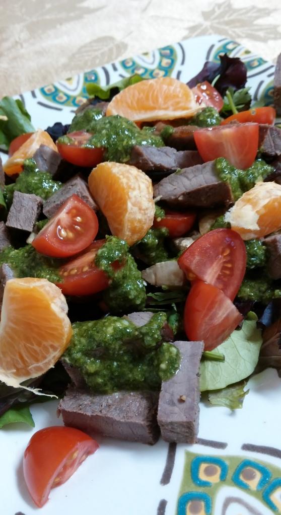 steak w cilantro sauce