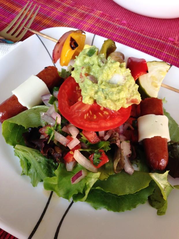 BBQ leftover salad