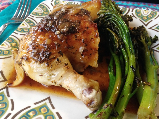 Herb Roasted Chicken with Garlic Onion Gravy