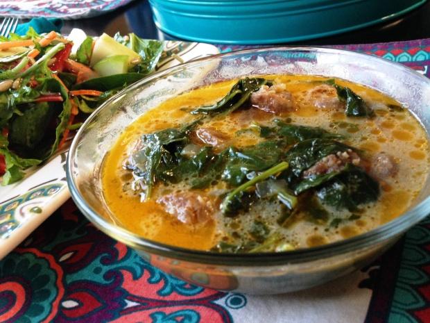 Italian Coconut Kale Soup