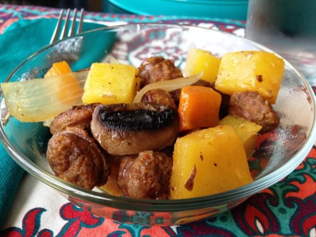Italian Sausage Pineapple Stir Fry