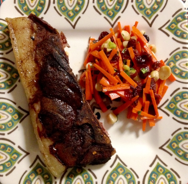 Country Style Ribs and Carrot Slaw