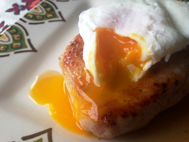 Pork Chop and Poached Eggs