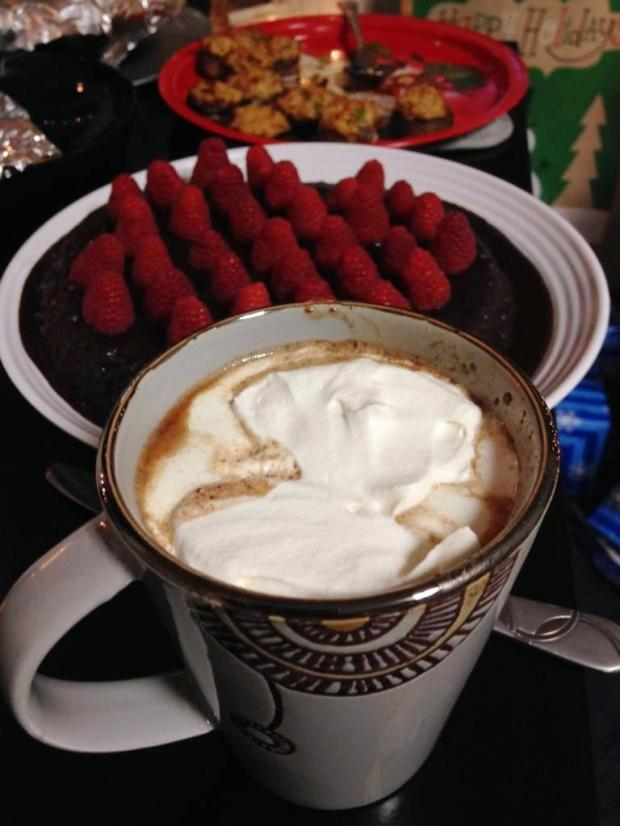 Cake and Hot Cocoa